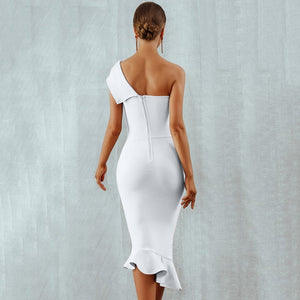 Classic One Shoulder Bandage Dress