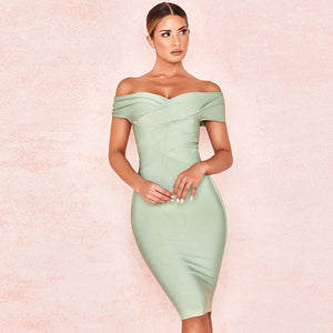 Green Bandage Party Dress