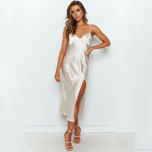 Champagne Split Party Dress