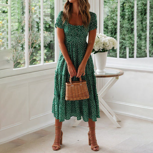 Casual Floral Midi Dress