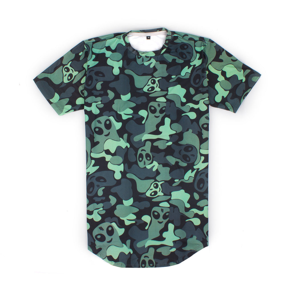 'Camo' Long Tail T-Shirt // UNISEX