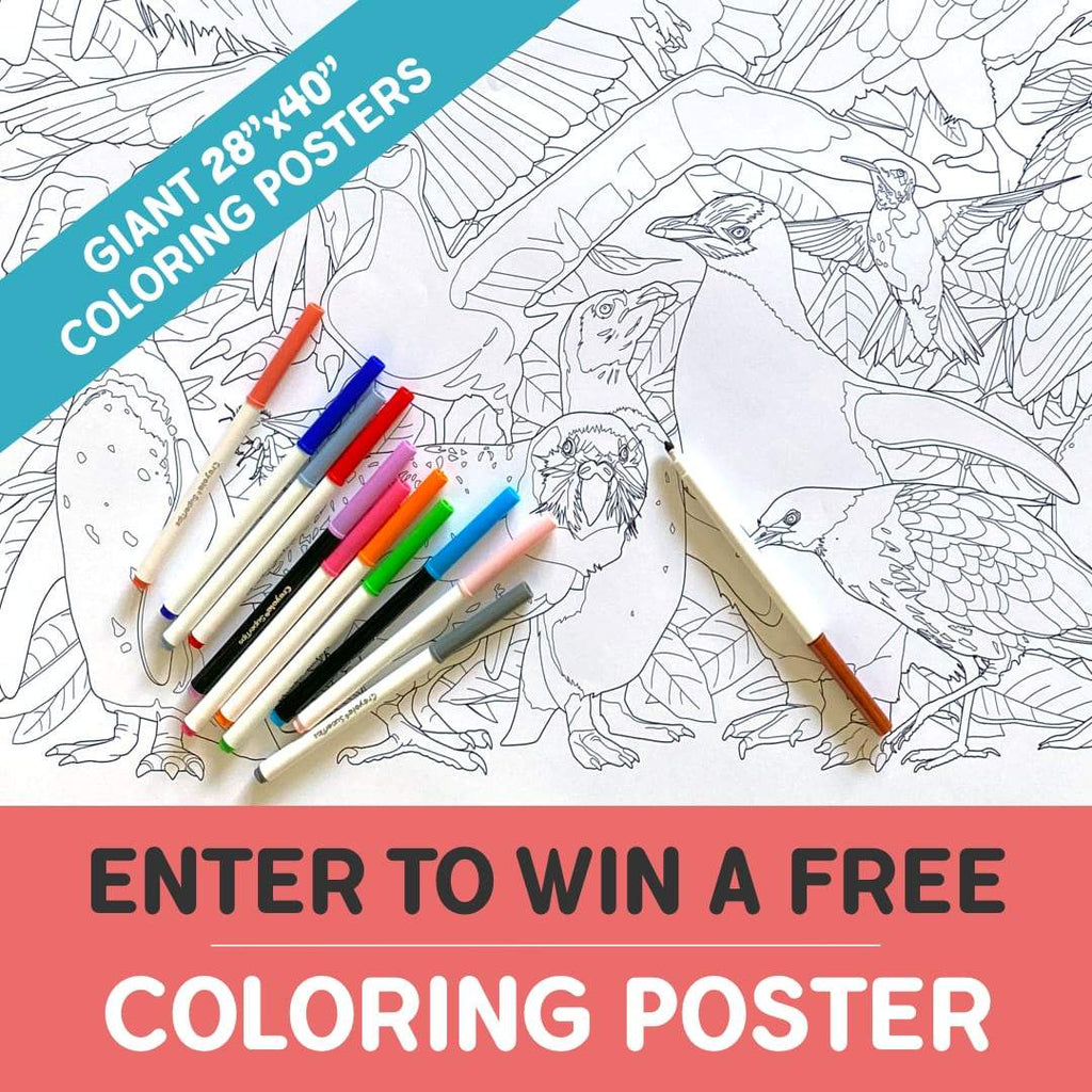 **GIVEAWAY** Giant Coloring Poster | OddGoods