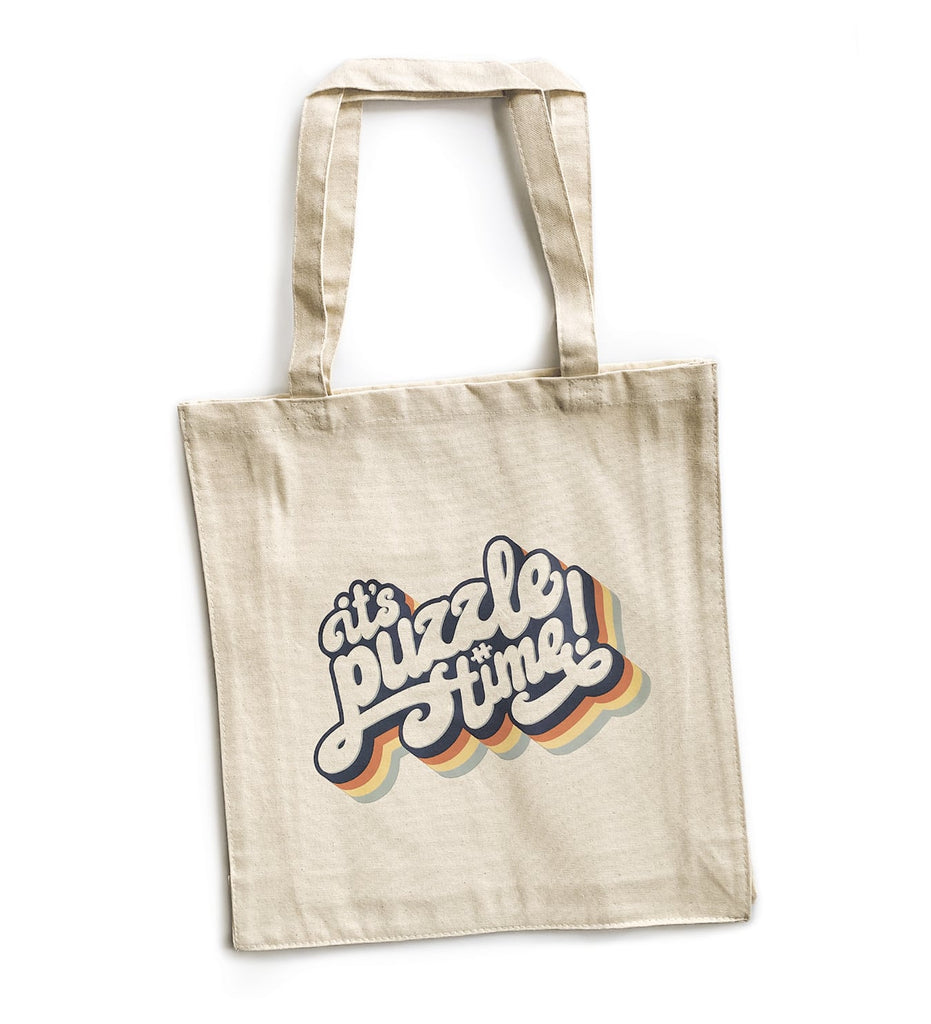 It's Puzzle Time Heavy Cotton Canvas Tote Bag