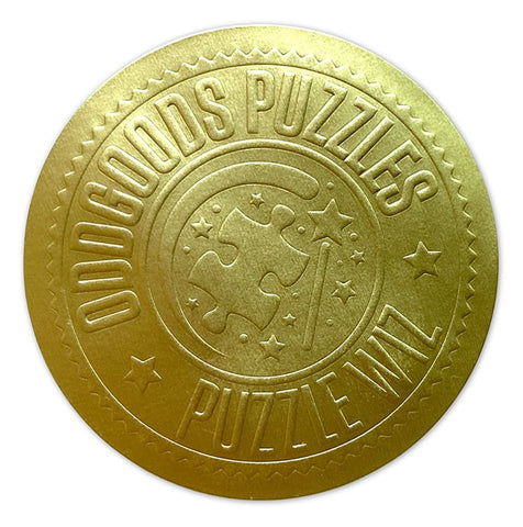 OddGoods Puzzles Puzzle Wiz gold embossed sticker