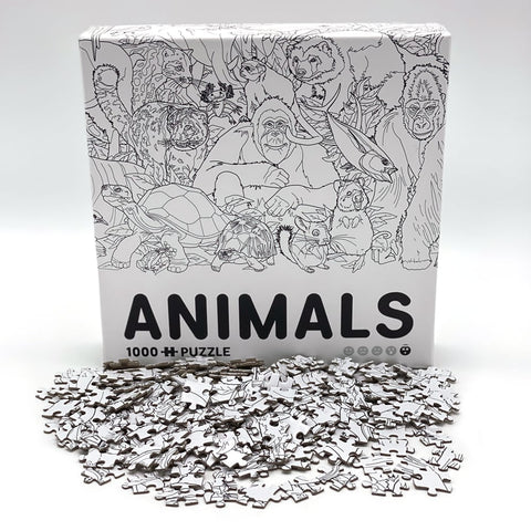 NEW Animals puzzle box with pieces