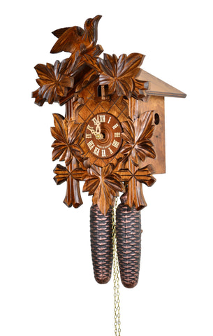 August Schwer© 8-day Cuckoo Clock, Five Leaves, Bird