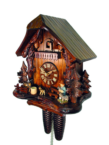 August Schwer© 8-Day Chalet Cuckoo Clock: The Goatherd