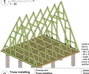 DIY A-frame plans (imperial, inches)