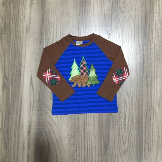 Baby Boy Christmas Tree Shirt