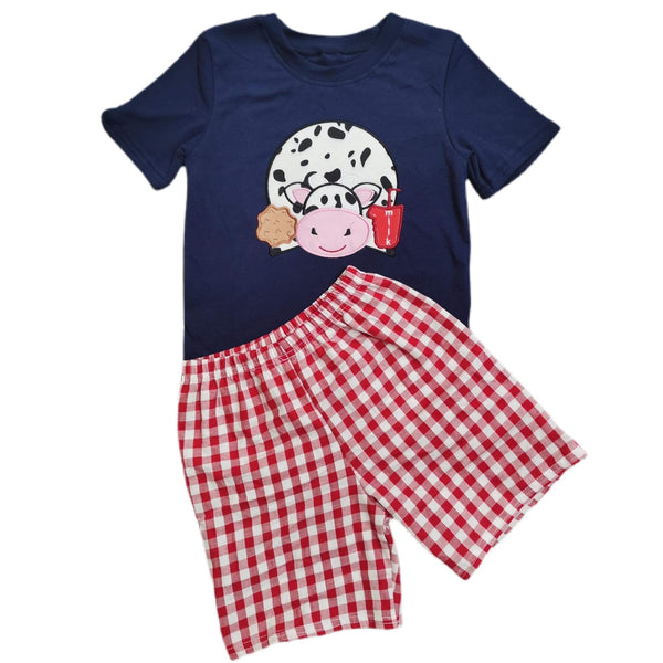 Baby boy two piece cow set