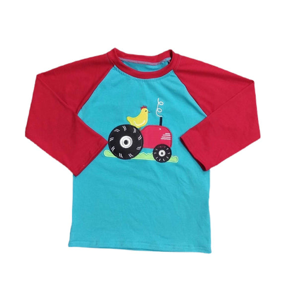 Baby Boy Chicken Tractor Shirt