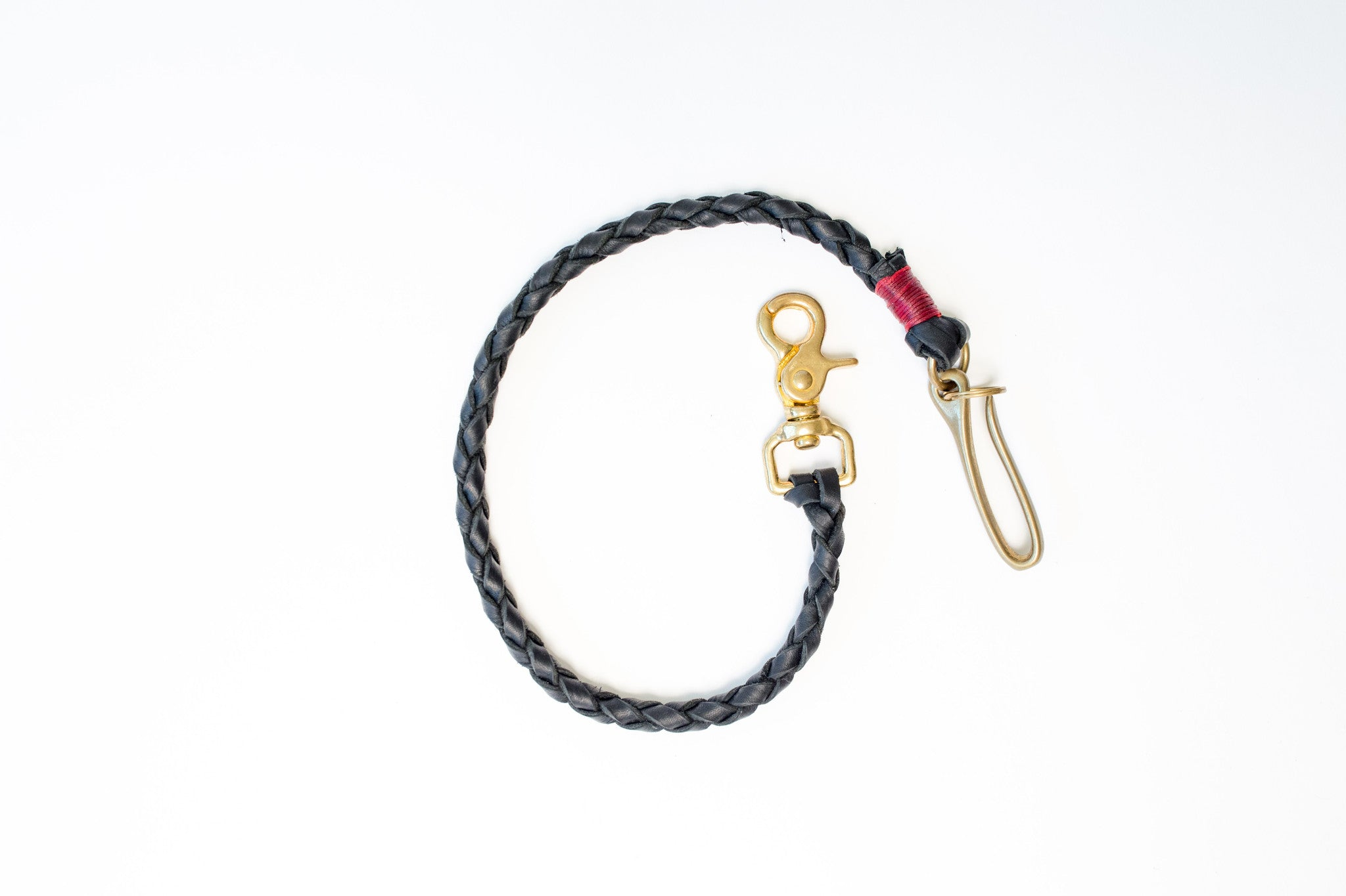 Marked™ Braided Leather Lanyard with Japanese Brass Fishhook