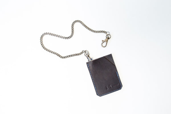 Marked Small Profile Card Wallet with Chain
