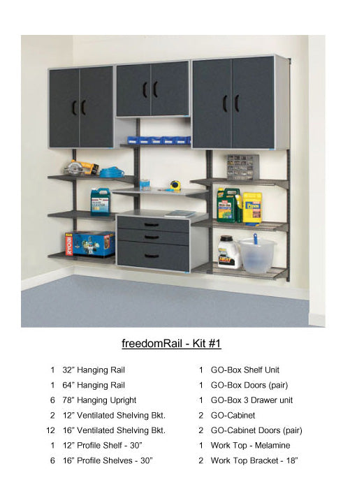 Organized Living - Schulte FreedomRail Garage Kit