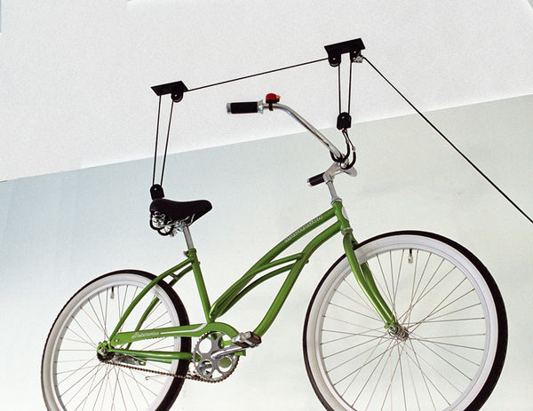 Up And Away AG40025 Ceiling Mount Bike Lift Hoister - Wall To Wall Storage