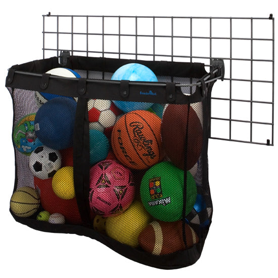 Organized Living - Schulte  7115-3026-14 BIG Mesh Sports Basket for SlatWall - Wall To Wall Storage
