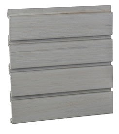 "HandiWALL 80"" Long Driftwood PVC Slatwall Panels - 33 sq ft per box"