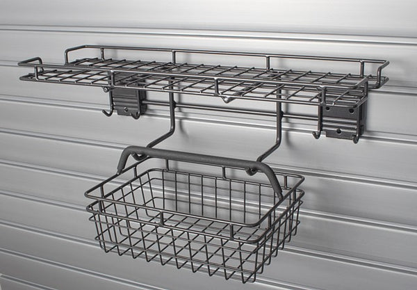 HSGC HandiSolutions Slatwall Garden Center with Lift-Off Basket - Wall To Wall Storage