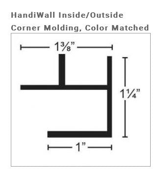 HandiWALL Inside/Outside Corner Molding Trim - Wall To Wall Storage