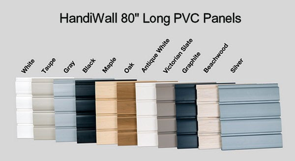 "HandiWall 80"" long Panels Color Section palette"