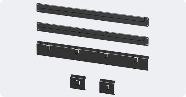 Hercke Cabinet Slatwall Channel Mount System - Wall To Wall Storage