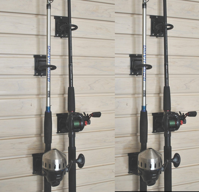 Slatwall Fishing Rod Holder - PACK OF FOUR (Holds 4 Rods)