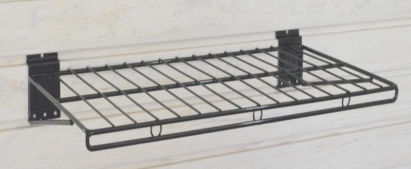 "Slatwall Wire Shelf - Large - 24""""w x 12""""d  - PACK OF TWO SHELVES"
