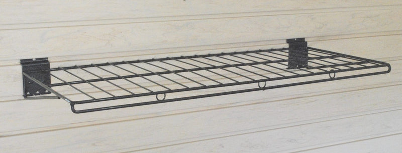"12""D X 30""W  Wire Slatwall Shelf - PACK OF TWO SHELVES"