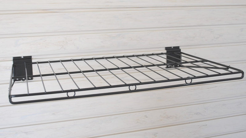 "Slatwall Wire Shelf -Big - 24""w x 14""d - PACK OF TWO SHELVES"