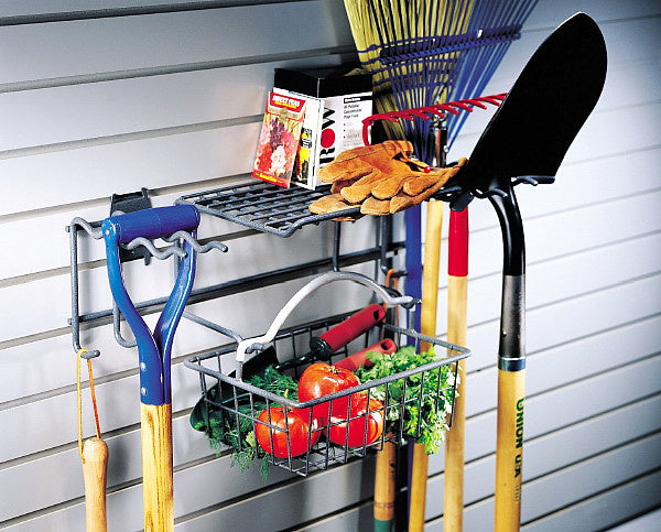 "Organized Living - Schulte  7115-5200-50 The Garden Rack & Basket  23""""w x 11""""d x 13""""h for Grid - Wall To Wall Storage"