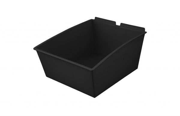 "Slatwall Mount Open Storage Bins - Extra Large : 11"" Wide X 14"" Deep  - Pack of Three - Wall To Wall Storage"
