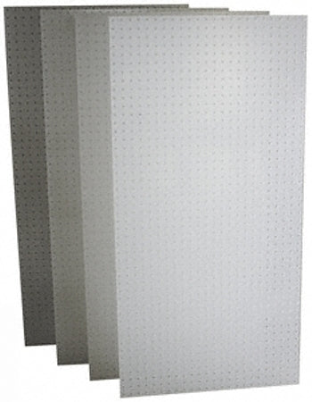 "Four 24"" x 48"" Triton DB-4 DuraBoard Polypropylene Pegboard Panels - Wall To Wall Storage"
