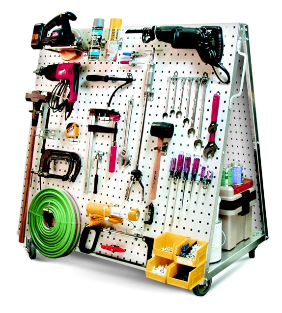 LocBoard Mobile Tool, Display, & Storage Cart - Wall To Wall Storage