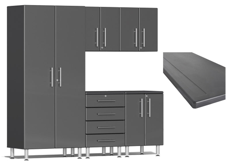 Ulti-MATE Garage 2.0 Series UG20163* Six Piece Kit With Worktop - Usually Ships in 7-21 Business Days