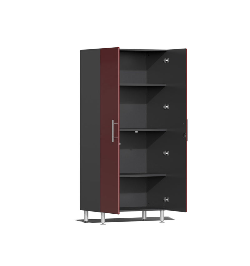 Ulti-MATE UG21006R - 3' Wide 2-Door Tall Tower Cabinet With Ruby Red Facings - Usually Ships: 1-10 Business Days