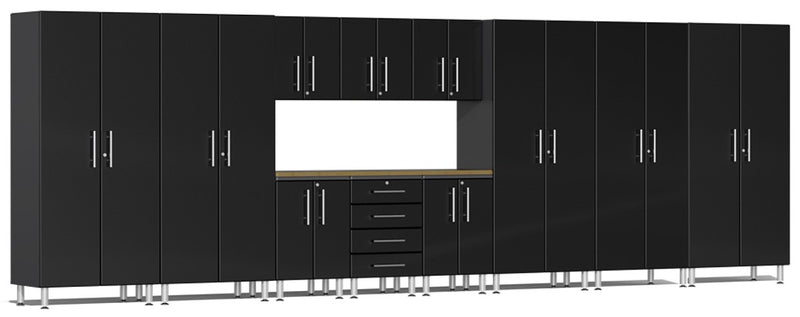 Ulti-MATE 2.0 Series UG22122* - 21' Wide 12-Piece Garage Cabinet Kit with Bamboo Worktop - Usually Ships in 7-21 Business Days