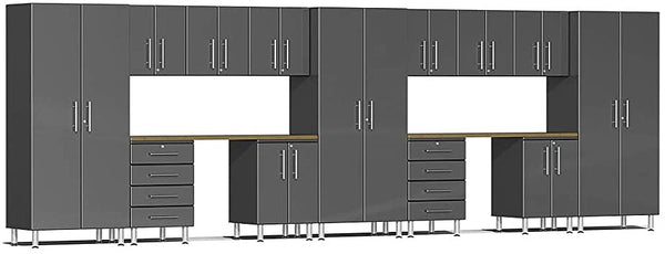 Ulti-MATE UG22152G 21' Wide  15-Piece Garage Cabinet Kit with Graphite Grey Facings - Usually Ships in 7-21 Business Days