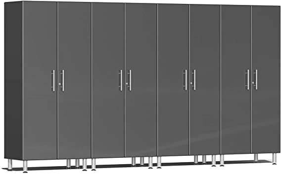 Ulti-MATE 2.0 Series UG22640* - 12' Wide 4-Piece  Gray Tall Tower Cabinet Kit  - Usually Ships in 2-15 Business Days