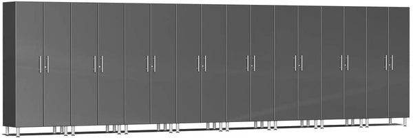 Ulti-MATE UG22680G - 24' Wide 8-Piece Tall Tower Cabinet Kit With Graphite Grey Facings - Usually Ships in 7-21 Business Days