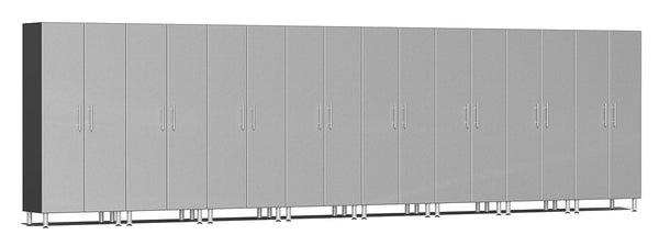 Ulti-MATE UG22680S - 24' Wide 8-Piece Tall Tower Cabinet Kit With Stardust Silver Facings - Usually Ships in 7-21 Business Days
