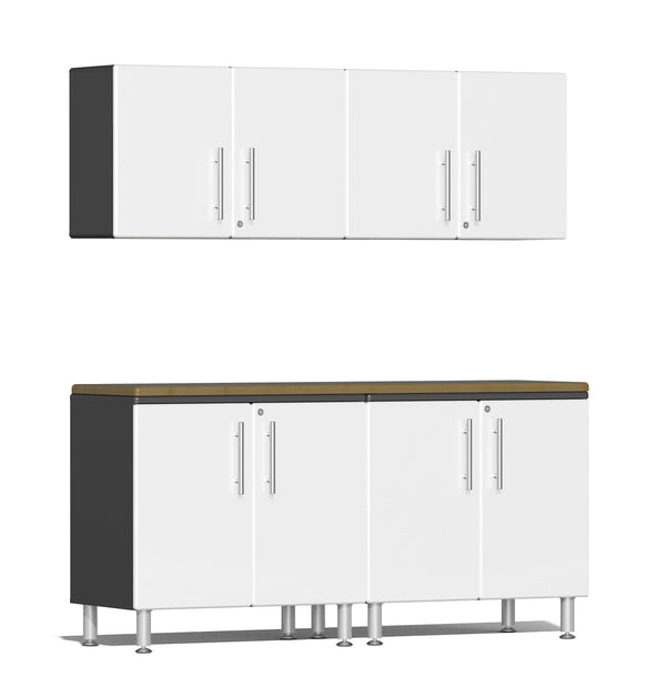 Ulti-MATE 2.0 Series UG23052* - 6' Wide  5-Piece Cabinet Workspace Kit with Bamboo Worktop - Usually Ships in 7-21 Business Days
