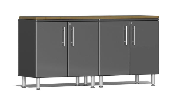 Ulti-MATE 2.0 Series UG24032* - 6' Wide  3-Piece Cabinet Workspace Kit with Bamboo Worktop - Usually Ships in 7-21 Business Days