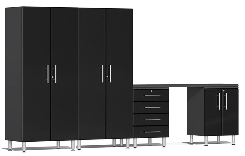 Ulti-MATE 2.0 Series UG25051* - 12' Wide Five Piece Garage Cabinet Kit with Workstation - Usually Ships in 7-21 Business Days