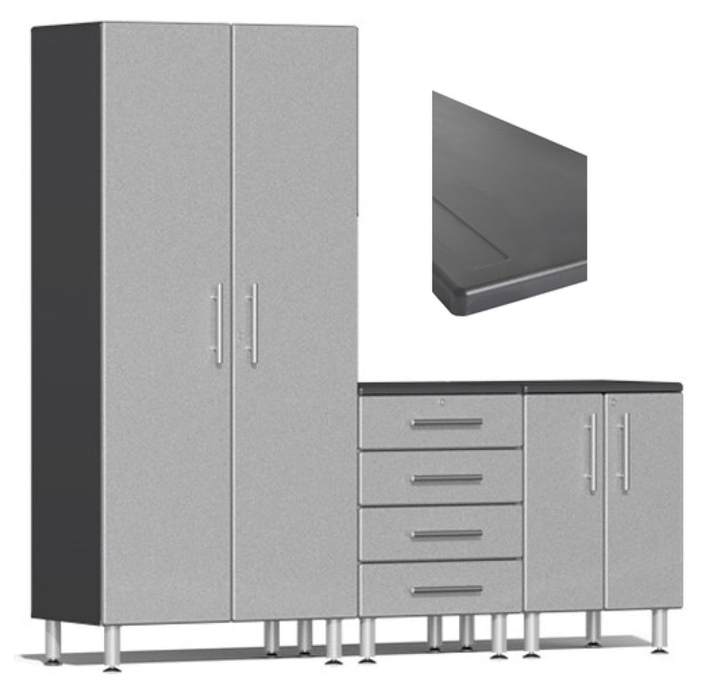Ulti-MATE 2.0 Series UG26043* - 7' Wide 4-Piece Garage Cabinet Kit With Worktop- Usually Ships in 7-21 Business Days