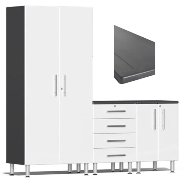 Ulti-MATE 2.0 Series UG26043* - 7' Wide 4-Piece Garage Cabinet Kit With Worktop- Usually Ships in 14-21 Business Days