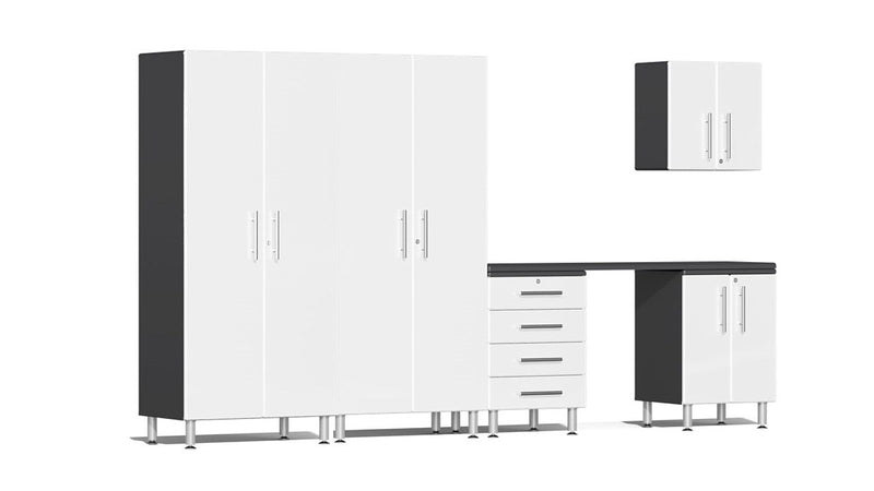 Ulti-MATE 2.0 Series UG27061* - 12' Wide Six Piece Garage Cabinet Kit with Workstation - Usually Ships in 7-21 Business Days