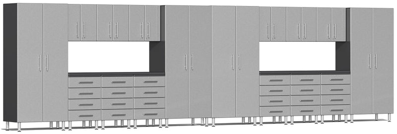 Ulti-MATE 2.0 Series UG22181* - 24' Wide 18-Piece Garage Cabinet Kit with Recessed Worktops - Usually Ships in 7-21 Business Days