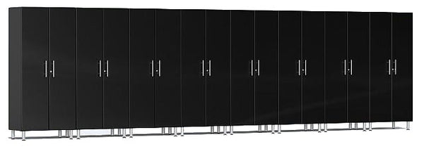 Ulti-MATE UG22680B - 24' Wide 8-Piece Tall Tower Cabinet Kit With Midnight Black Facings - Usually Ships in 7-21 Business Days