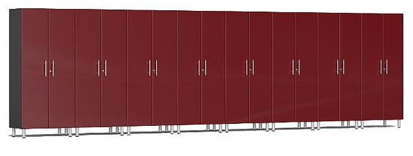 Ulti-MATE UG22680R - 24' Wide 8-Piece Tall Tower Cabinet Kit With Ruby Red Facings - Usually Ships in 7-21 Business Days