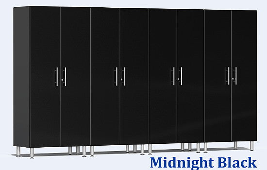 Ulti-MATE 2.0 Series UG22640X - 12' Wide 4-Piece Black Tall Tower Cabinet Kit - Wall To Wall Storage